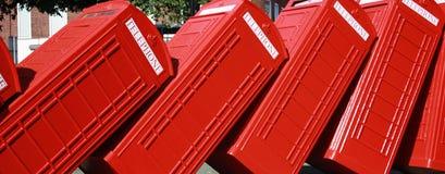Rectángulo del teléfono de Londres Imagenes de archivo