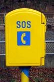 Rectángulo del teléfono el SOS foto de archivo libre de regalías