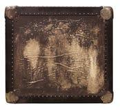 Rectángulo del viaje del cuero del vintage imagen de archivo libre de regalías
