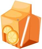 Rectángulo del zumo de naranja Foto de archivo libre de regalías