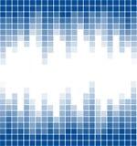 Rectángulo digital del fondo azul abstracto Imagen de archivo