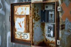 Rectángulo eléctrico viejo Foto de archivo libre de regalías