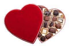 Rectángulo en forma de corazón de chocolates Imagen de archivo libre de regalías