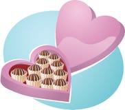 Rectángulo en forma de corazón de chocolates libre illustration
