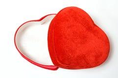 Rectángulo en forma de corazón encantador abierto Imágenes de archivo libres de regalías