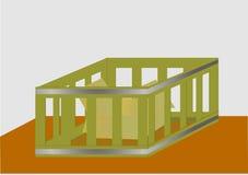 Rectángulo en un rectángulo Ilustración del Vector