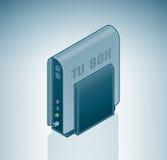 Rectángulo externo del sintonizador de la TV stock de ilustración