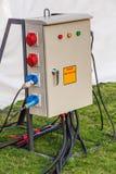 Rectángulo industrial del socket de la distribución Imagen de archivo