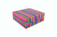 Rectángulo multicolor brillante para los regalos Fotos de archivo
