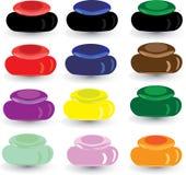 Rectángulo multicolor determinado para los cosméticos Fotografía de archivo