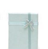 Rectángulo o cinta azul de regalo Fotografía de archivo libre de regalías