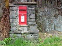 Rectángulo real del poste del correo Imágenes de archivo libres de regalías