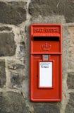 Rectángulo rojo británico del poste fotos de archivo