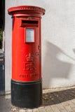 Rectángulo rojo británico del poste Foto de archivo libre de regalías