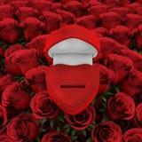 Rectángulo rojo del anillo Fotografía de archivo libre de regalías