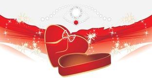 Rectángulo rojo del día de fiesta con tensiones brillantes Imágenes de archivo libres de regalías
