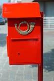 Rectángulo rojo del poste Fotos de archivo libres de regalías