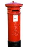Rectángulo rojo del poste Foto de archivo libre de regalías