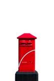 Rectángulo rojo del poste de Tailandia Imagen de archivo