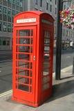 Rectángulo rojo del teléfono Imagen de archivo libre de regalías
