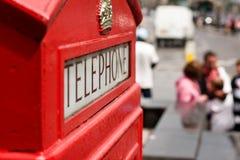 Rectángulo rojo del teléfono de Londres Imagenes de archivo