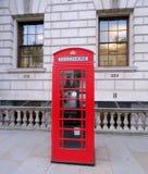 Rectángulo rojo del teléfono de Londres fotos de archivo libres de regalías