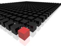 Rectángulo rojo en frente Imagen de archivo libre de regalías