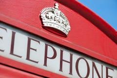 Rectángulo rojo inglés del teléfono Imagen de archivo