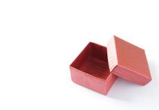 Rectángulo rojo para el regalo de la tarjeta del día de San Valentín Fotografía de archivo libre de regalías