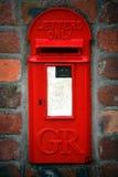 Rectángulo rojo viejo del poste Fotografía de archivo libre de regalías