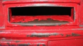 Rectángulo rojo viejo del poste Imagenes de archivo