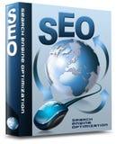 Rectángulo SEO - Web de la optimización del Search Engine Fotografía de archivo libre de regalías