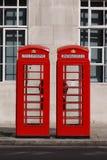 Rectángulo típico del teléfono de Londres imagen de archivo