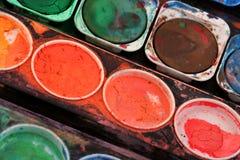Rectángulo usado de la pintura imágenes de archivo libres de regalías
