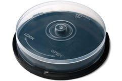 Rectángulo vacío cerrado para los discos CD de DVD Foto de archivo libre de regalías