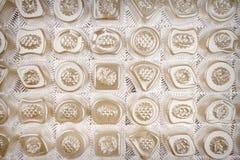 Rectángulo vacío de chocolates Foto de archivo libre de regalías