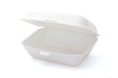 Rectángulo vacío de la comida de la espuma de poliestireno Imagen de archivo libre de regalías