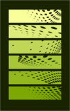 Rectángulo verde oscuro con los círculos Imagen de archivo