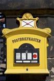 Rectángulo viejo del poste fotografía de archivo libre de regalías