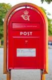 Rectángulo viejo del poste Fotografía de archivo