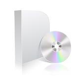 Rectángulo y Cd del software Foto de archivo libre de regalías