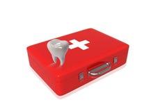 Rectángulo y dientes de los primeros auxilios Fotografía de archivo