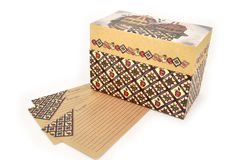 Rectángulo y tarjetas de la receta Fotografía de archivo