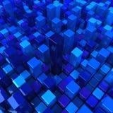 Rectángulos azules Imagen de archivo libre de regalías