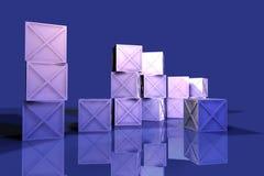 Rectángulos azules 2 del hierro stock de ilustración