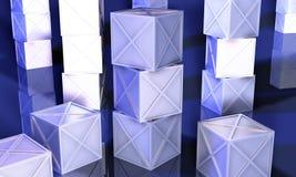 Rectángulos azules del hierro stock de ilustración