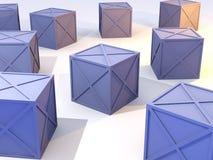 Rectángulos azules en existencias stock de ilustración