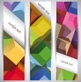 Rectángulos. Banderas abstractas del Web Fotos de archivo