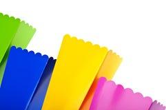 Rectángulos coloreados vibrantes del convite Fotografía de archivo