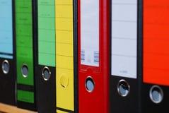 Rectángulos coloridos del fichero del compartimiento Fotografía de archivo